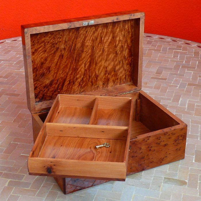 orientalische holz schatulle k stchen kiste aufbewahrungsbox schmuck thuja marrakech. Black Bedroom Furniture Sets. Home Design Ideas