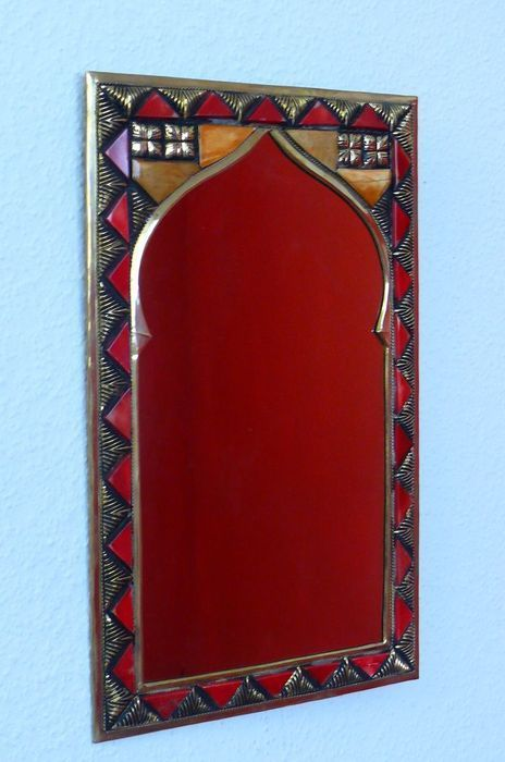 Orientalischer spiegel f r die wand - Spiegel an die wand kleben ...