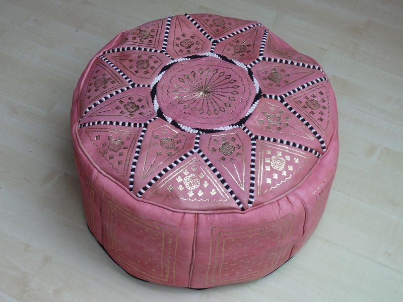 orientalisches sitzkissen pouf bodenkissen hocker leder kissen 60 cm ohne marrakech. Black Bedroom Furniture Sets. Home Design Ideas