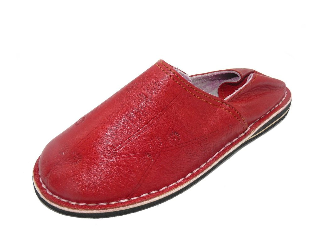 orientalische leder schuhe pantoffeln hausschuh slipper herren gr 47 ebay. Black Bedroom Furniture Sets. Home Design Ideas