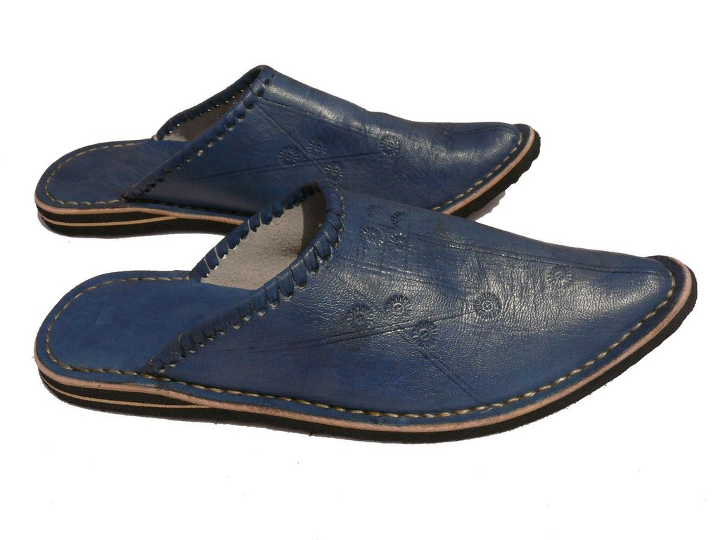 orientalische leder schuhe pantoffeln hausschuh slipper herren gr 42 marrakech. Black Bedroom Furniture Sets. Home Design Ideas
