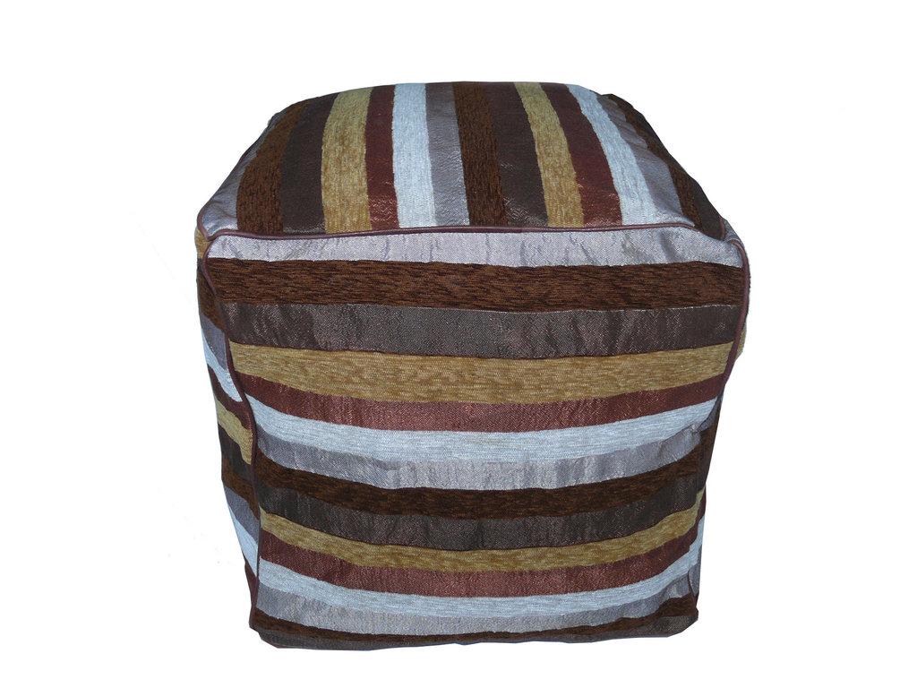 orientalisches sitzkissen aus leder textil 40 x 40 x 40. Black Bedroom Furniture Sets. Home Design Ideas