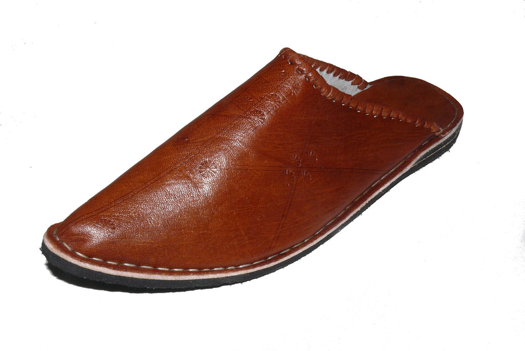 orientalische leder schuhe pantoffeln hausschuh slipper herren gr 46 marrakech. Black Bedroom Furniture Sets. Home Design Ideas