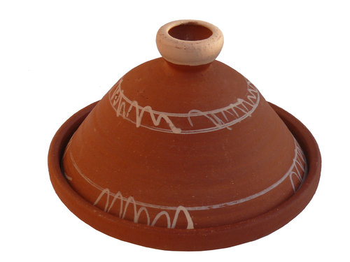 Marokkanische tajine berber zum kochen unglasiert 35 cm for Kochen 5 personen