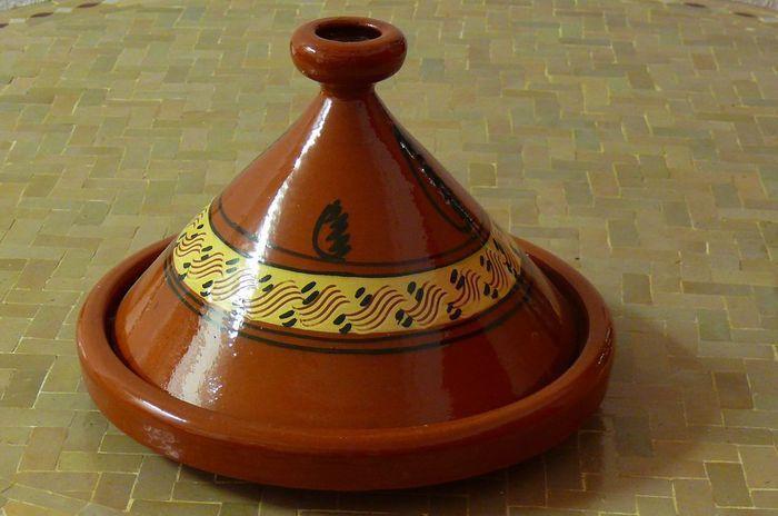 Marokkanische tajine zum kochen 35 cm f 4 5 personen for Kochen 5 personen