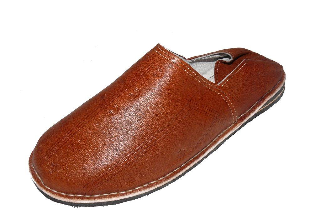 online retailer 86145 84c64 Orientalische Leder Schuhe Pantoffeln Hausschuh Slipper - Herren