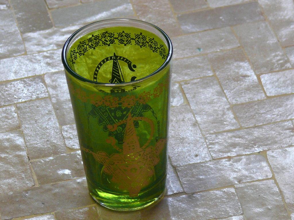 Orientalische Teegläser Glas Gläser Tee arabisches Deko Pfefferminztee Marokko